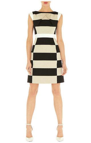 Geometric Striped Shift Dress