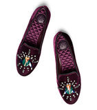 Tory Burch Velvet Candide Jeweled Smoking Slippers ($228, originally $325)