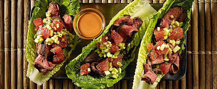 Lower-Carb Tandoori Steak-Grapefruit Lettuce Wraps