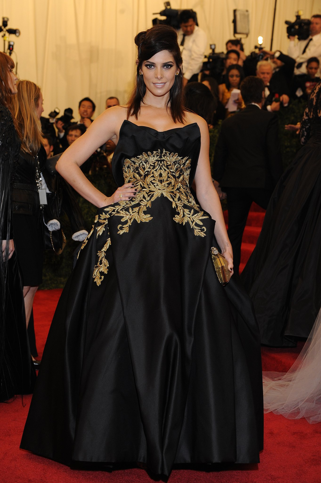 Having a major Marchesa moment at the Punk: Chaos to Couture Met Gala event in 2013.