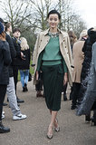 For the Burberry show, the only look to do is classic English Heritage.