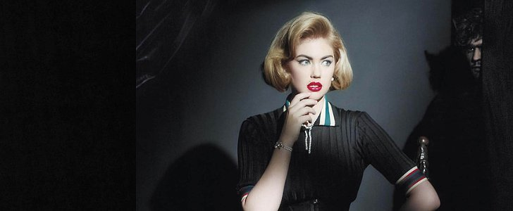 Kate Upton Takes on the Faux Bob and Retro Makeup