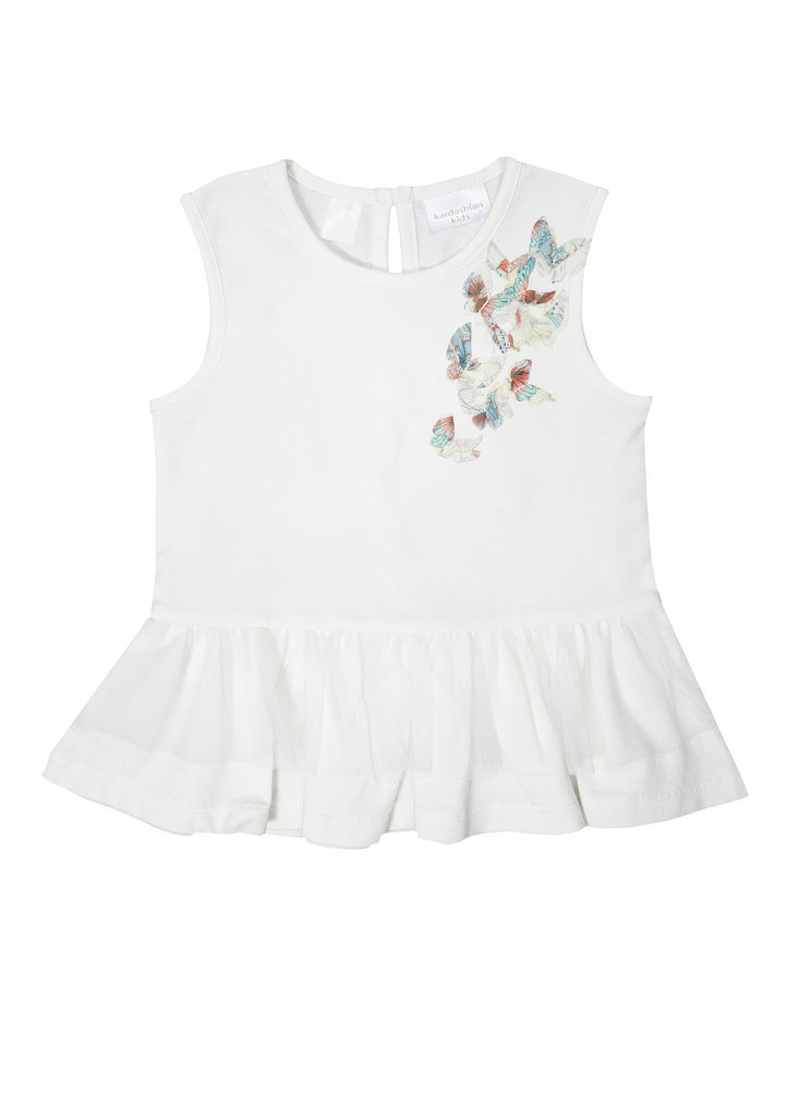 Baby Butterfly Peplum Top