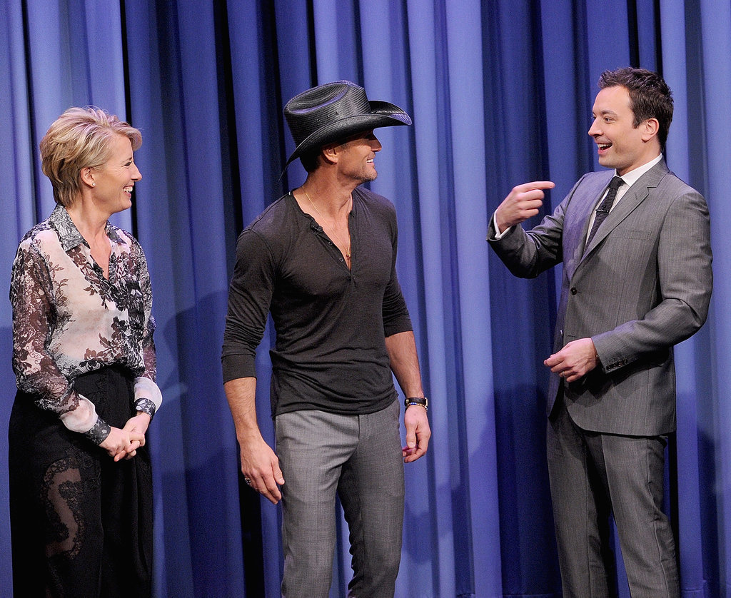 Emma Thompson and Tim McGraw