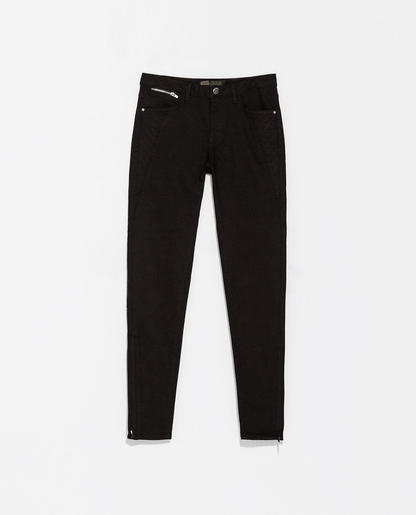 Zara Skinny Black Biker Trousers ($60)
