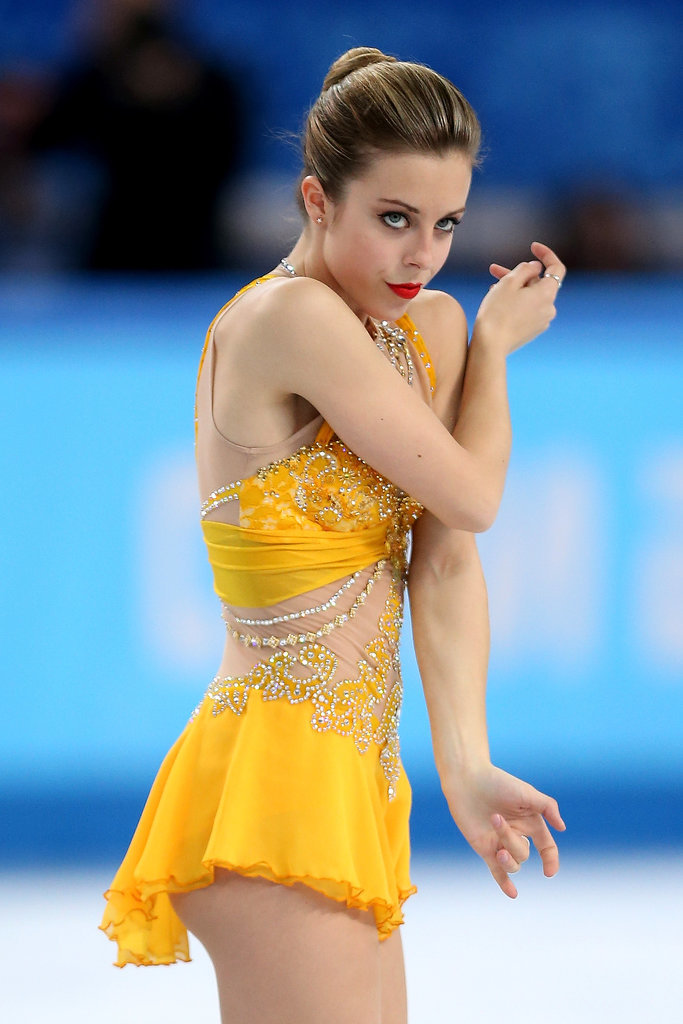 Fellow American Ashley Wagner brought her game face.