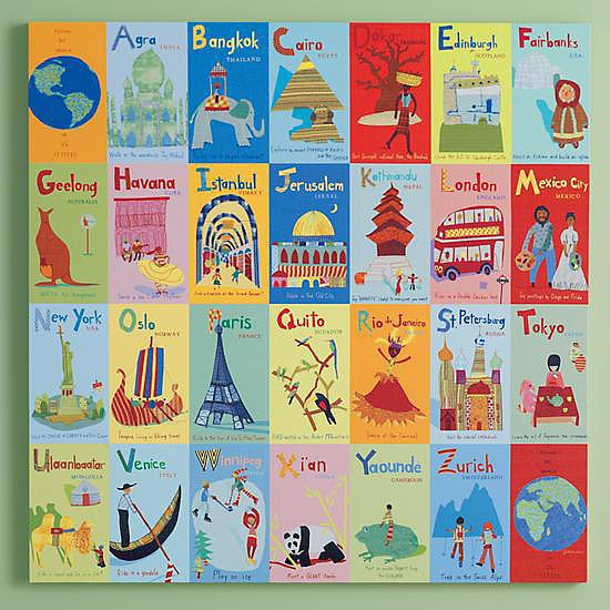 Country Alphabet Art