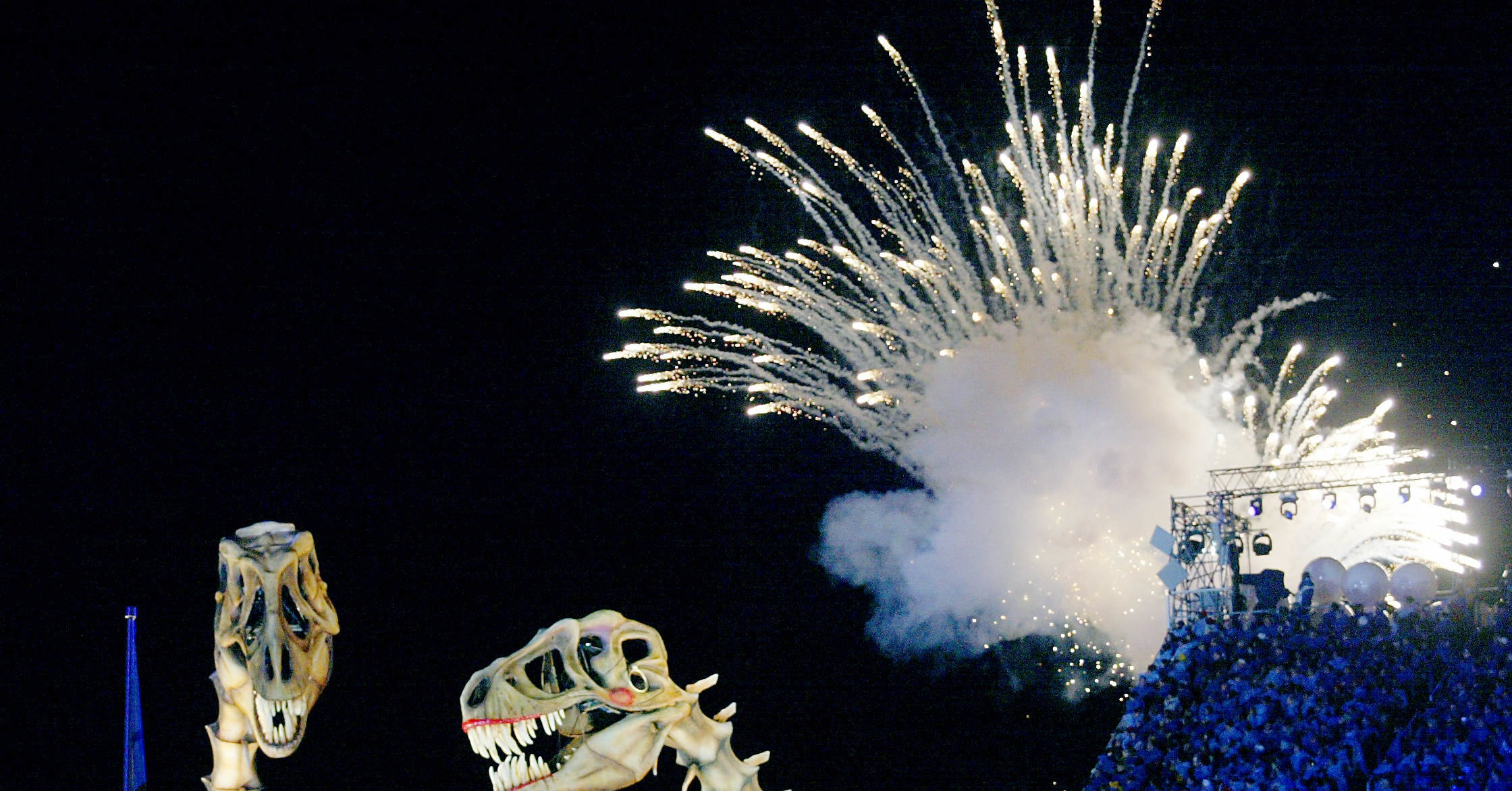 No Fireworks Show Is Complete Without Dinosaur Skeletons