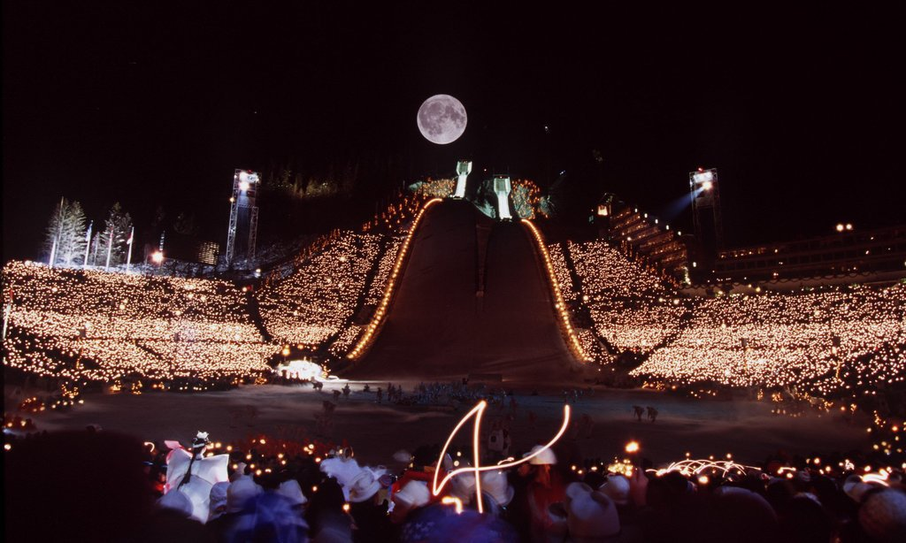 1994 saw a gorgeous moon over the festivities.