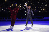 Ice skater Scott Hamilton took the spotlight, lantern in hand.