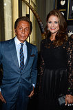 The princess attended a Valentino show with the designer who made her wedding dress in Paris in 2013.