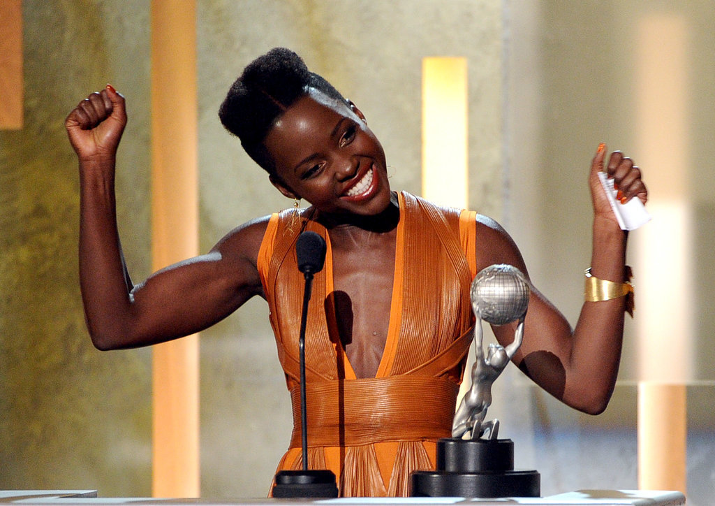 Lupita even threw her hands up.