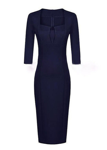 Empire Waist Half Sleeve Dress