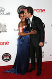 Kerry received affection from Scandal costar Tony Goldwyn.