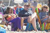 Sofia Vergara, Ed O'Neill and Julie Bowen at Bondi Beach on Feb. 21.