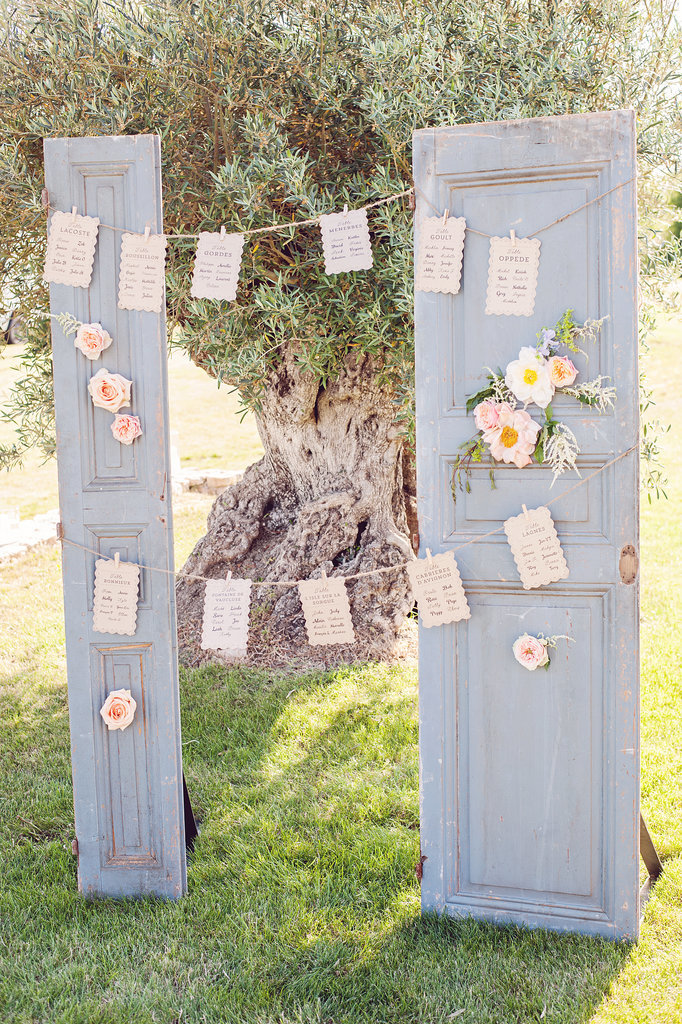 Table Assignments on Reclaimed Door