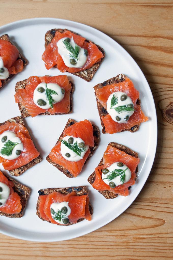 Gravlax and Crème Fraiche Toasts