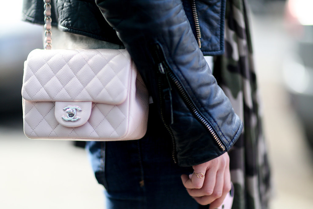 The prettiest counterpoint to a leather jacket