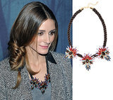 Olivia Palermo Wearing BaubleBar's Mohawk Necklace