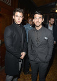 Nick and Joe Jonas suited up.