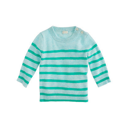 J.Crew Baby Cashmere Sailor Stripe Sweater