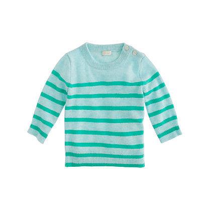 J.Crew Baby Cashmere Sailor Stripe Sweater