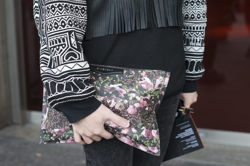 We adore the florals on this Spring-ready Givenchy clutch.