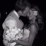 Gisele Bündchen shared this sweet snap from her February 2009 wedding to Tom Brady via Instagram on their fifth anniversary.  Source: Instagram user giseleofficial