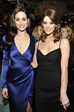 Emmy Rossum and Ashley Greene palled around inside Bulgari's bash on Tuesday.