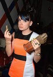 Lily Allen broke her NME Award during the afterparty in London on Wednesday.