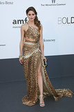 It was maybe the sexiest look we've ever seen from Miss Palermo in a cutout Roberto Cavalli number at Cannes in 2013.