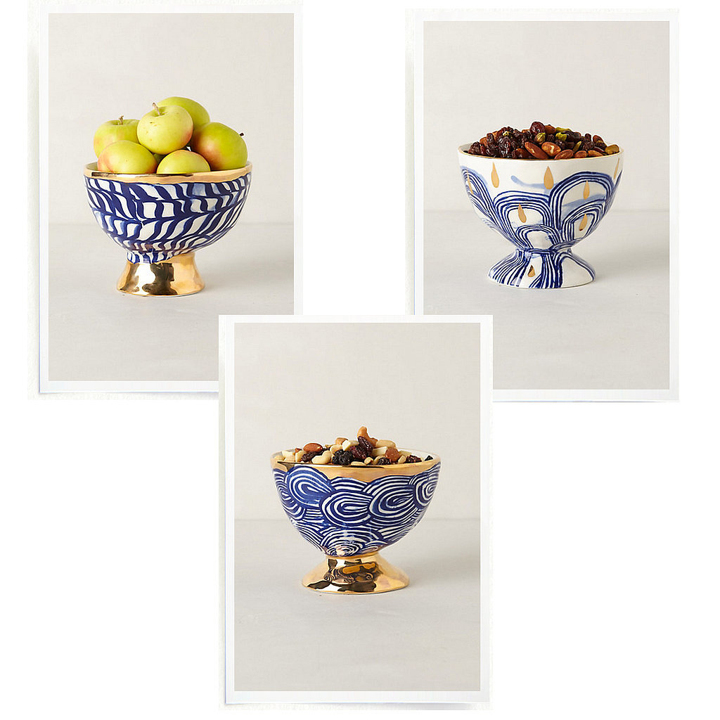 One of my favorite ways to make a casual party feel special is to invest in pretty bowls. Even the most unglamorous party snacks (yogurt-covered pretzels anyone?) look like works of art in these stunning stoneware vessels ($32).  — AE