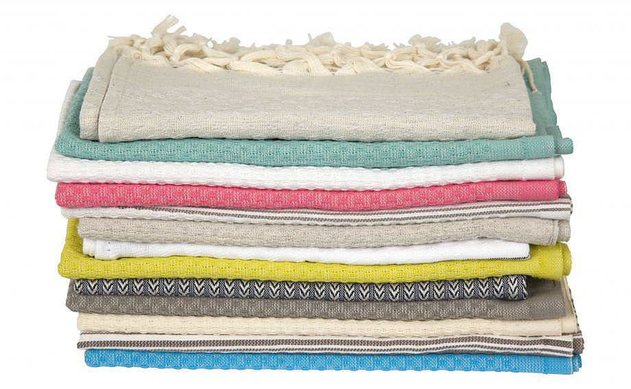 I love the idea swapping out your daily bath towels for fancier linens when entertaining guests. Even though they're only $22 to $24, these small cotton towels have a luxurious look about them and come in a variety of colors to match your bathroom or swap out seasonally.  — EB