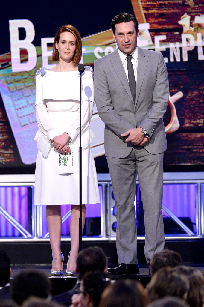 Sarah Paulson and Jon Hamm were one of the show's onstage duos.