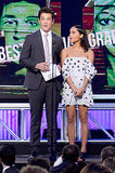 Miles Teller presented an award with Zoë Kravitz.