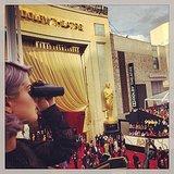 Kelly Osbourne looked out over the Oscars red carpet. Source: Instagram user kellyosbourne