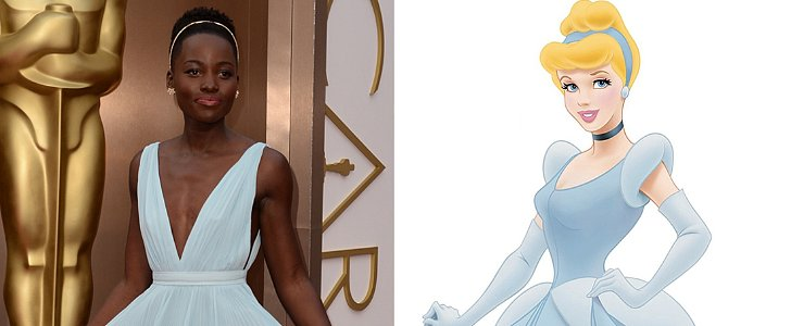 Lupita Nyong'o Looks Just Like Cinderella at the Oscars