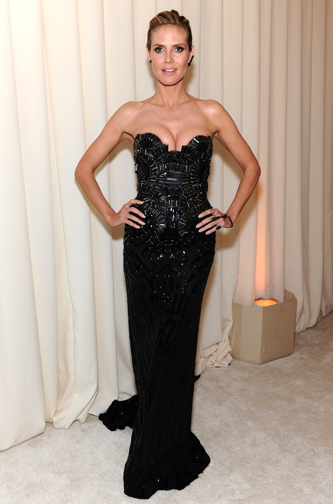 Heidi Klum looked gorgeous at the party.