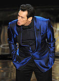 Jim Carrey made some interesting faces while presenting an award.