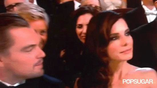Ellen Popped Up In Between Sandra and Leo
