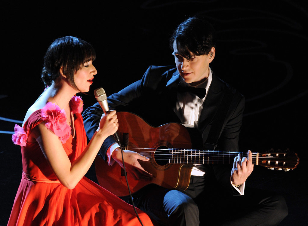"Karen O and Ezra Koenig performed ""The Moon Song"" from Her."