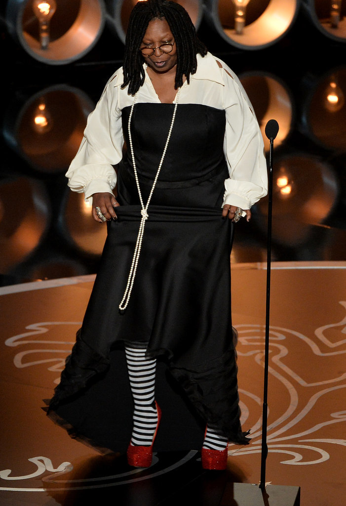 Whoopi Goldberg showed off her tribute to The Wizard of Oz — with her socks.