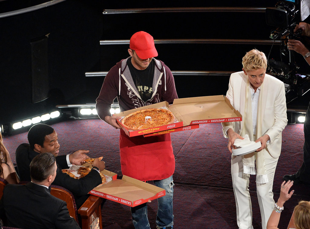 Ellen DeGeneres asked stars if they wanted pizza.
