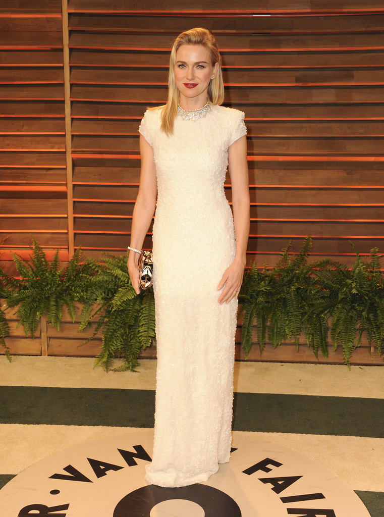 Naomi Watts headed to Vanity Fair after attending the ceremony.