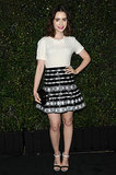 Lily Collins looked gorgeous in black and white.