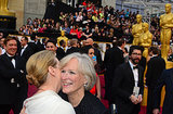 Meryl Streep and Glenn Close embraced on the Oscars red carpet.
