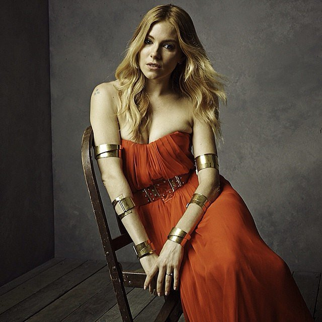 Sienna Miller showed off her impressive accessories.  Source: Instagram user vanityfair
