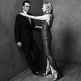 Jon Hamm and Jennifer Westfeldt played things up.  Source: Instagram user vanityfair