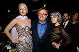 Lady Gaga left her feud with Kelly Osbourne behind for Elton's party.