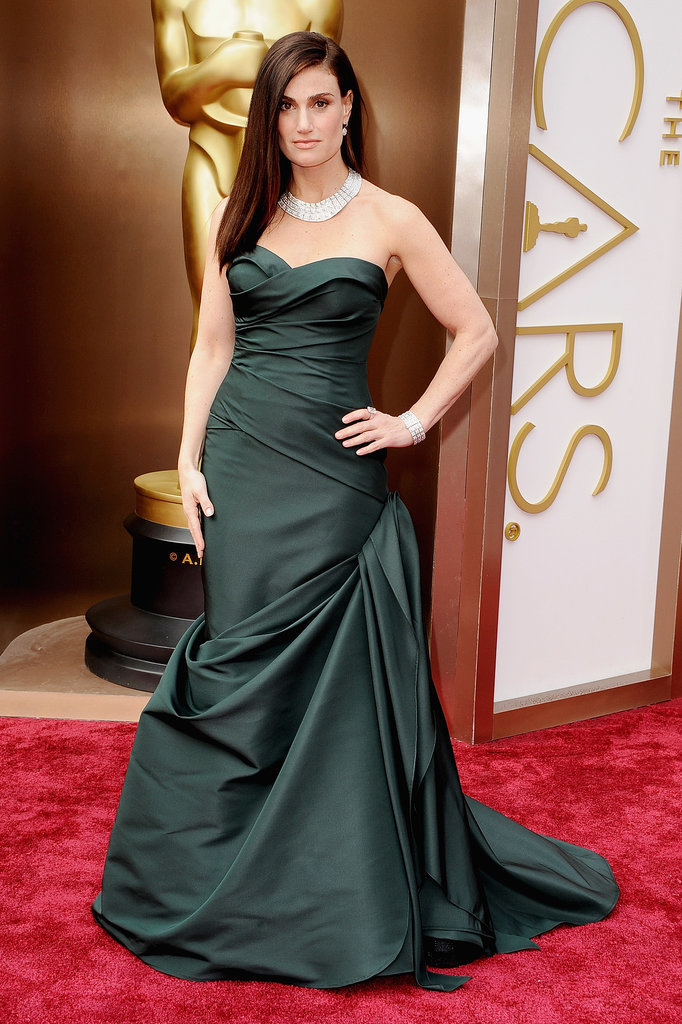 Idina Menzel in Vera Wang at the Oscars